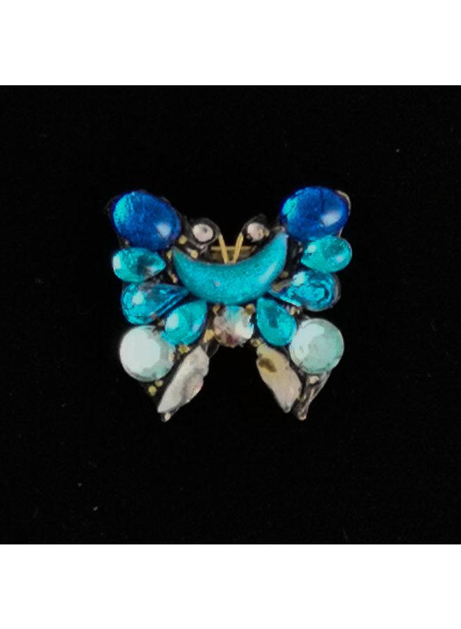 Blue Wing Butterfly Kleine Brosche 214