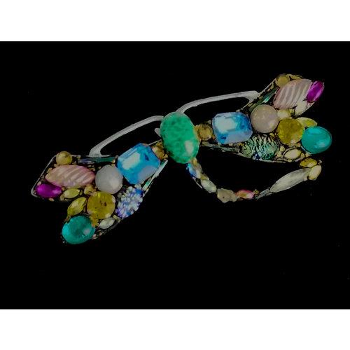 Annie Sherburne Dragonfly grote broche met gekrulde staart 205