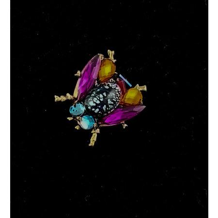 Annie Sherburne Multi met paarse vleugels Bee Broche 190