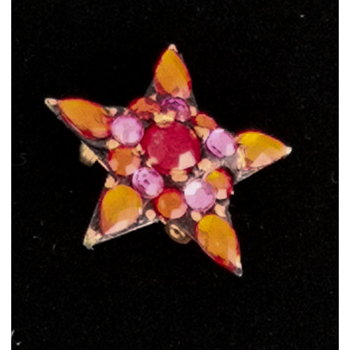 Annie Sherburne Orange  star  Brooch 220