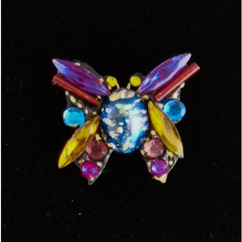 Annie Sherburne Purple Wing Butterfly Small  Brooch 213
