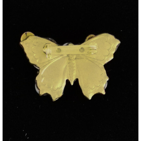 Kleine vlinderbroche met rode vleugels 215