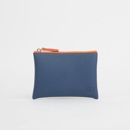 goodeehoo Coin purse navy with orange zipper  042