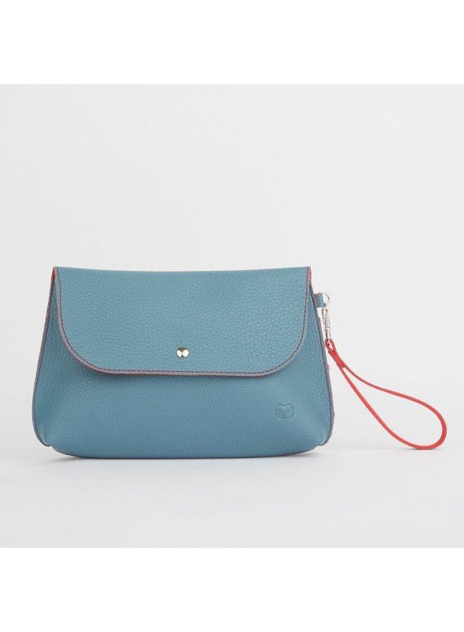 Dusky Clutch Bag Teal und Orange 048