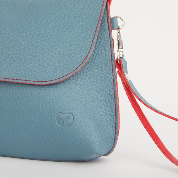 Dusky Clutch Bag Teal en Oranje 048