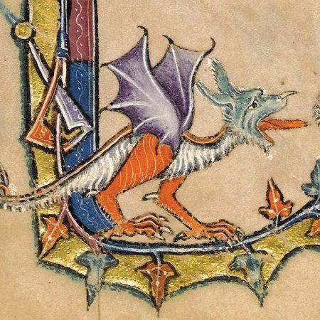 Fitzwilliam Museum Dragon Macclesfield Psalter  1330 Card