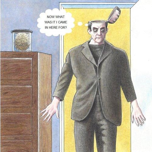 Adrian Keefe Frankenstein Humorous  card 30