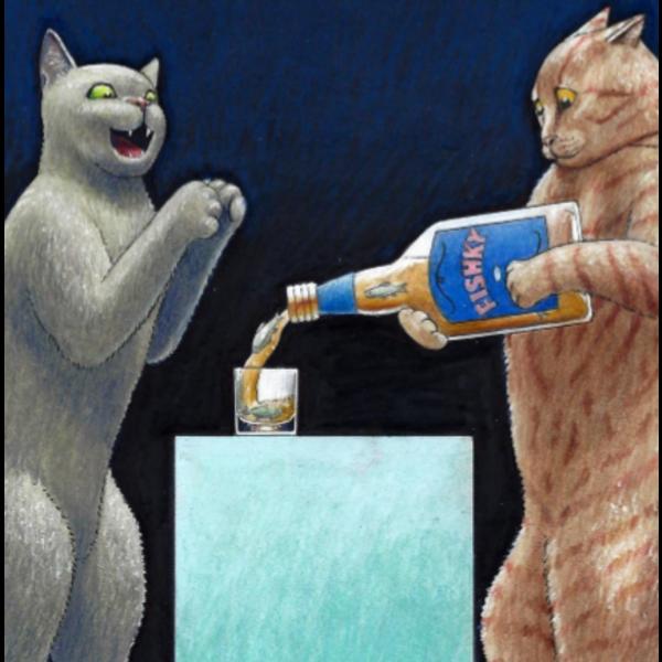 Fishky Humorous  Cat card 25