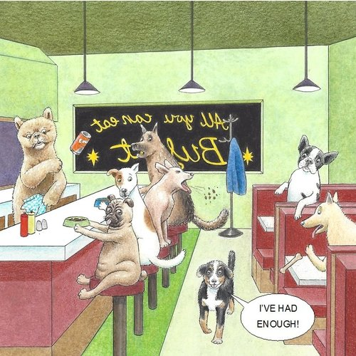 Adrian Keefe All You Can Eat Humorous  card 28