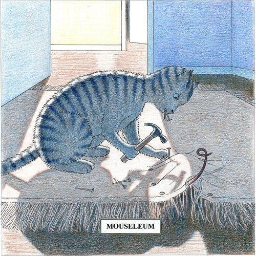 Adrian Keefe Mouseleum Humorous  Cat card 26