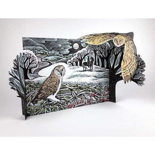 Art Angels Búho en el calendario de Adviento de invierno de Angela Harding