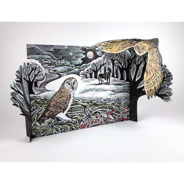 Owl in Winter Advent Calendar door Angela Harding