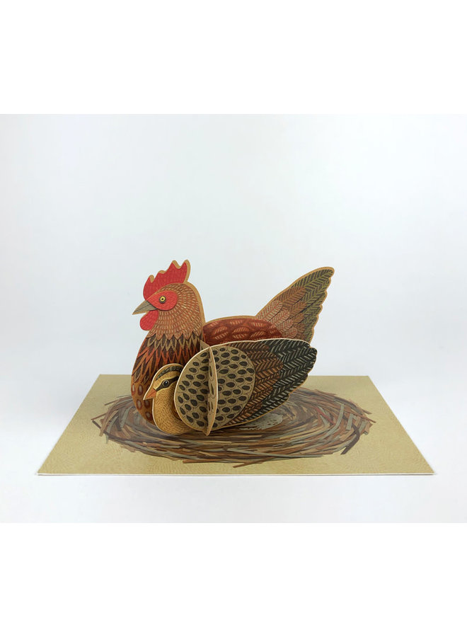 Chicken Pop-Out card byAlice Melvin