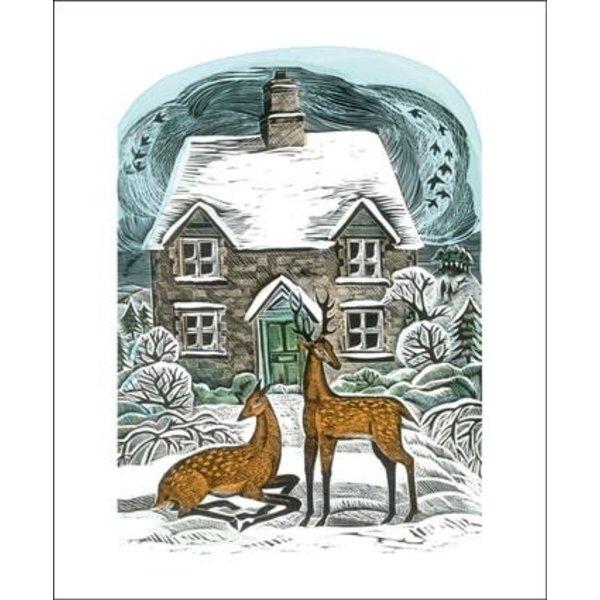 Christmas Cottage door Angela Harding