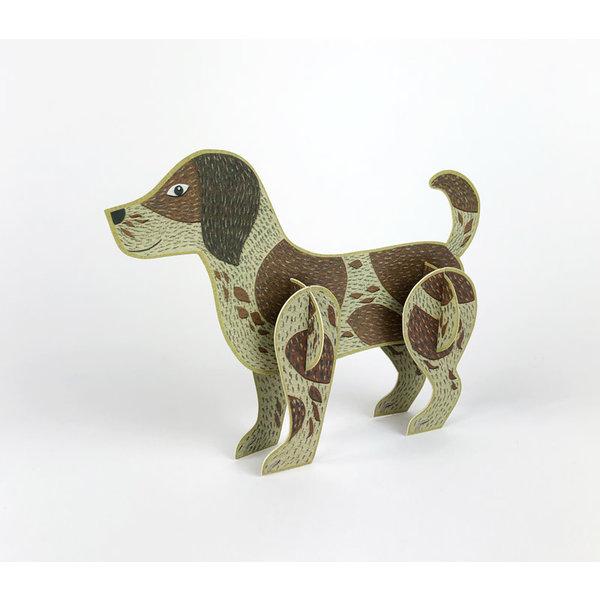 Dog Pop-Out-kaart van Alice Melvin
