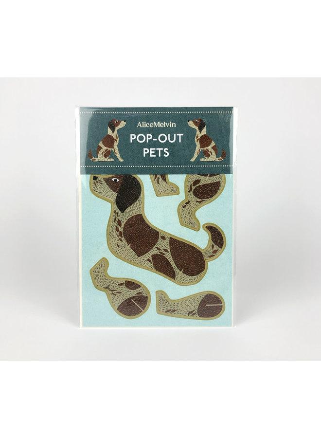 Hunde-Pop-Out-Karte von Alice Melvin