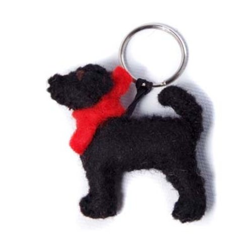 Amica Accessories Llavero Fieltro Labrador Negro 003