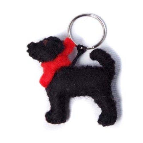 Amica Accessories Schwarzer Labrador-Filzschlüsselring 003