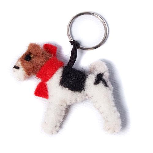 Amica Accessories Foxterrier-Schlüsselring