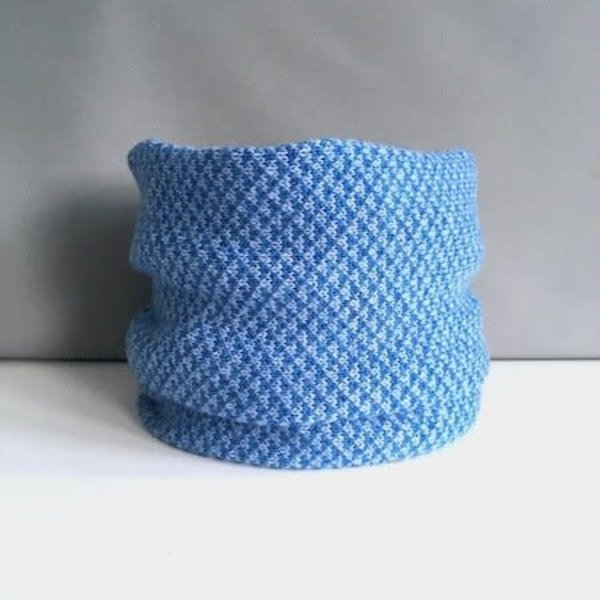 Merino lamswol Harris Cowl Monsoon Blue 009