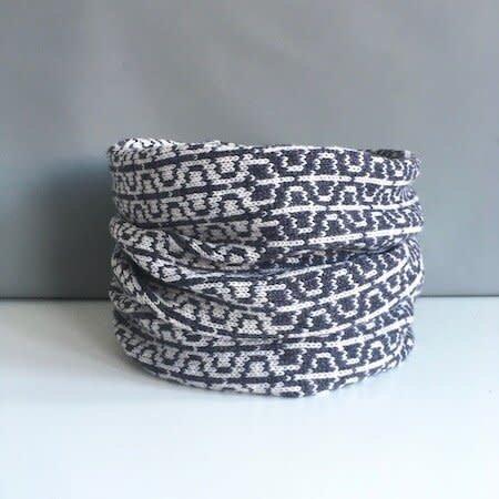 Olive Pearson Designs Merino Lamswol PHI Cowl Metalic Grey 001