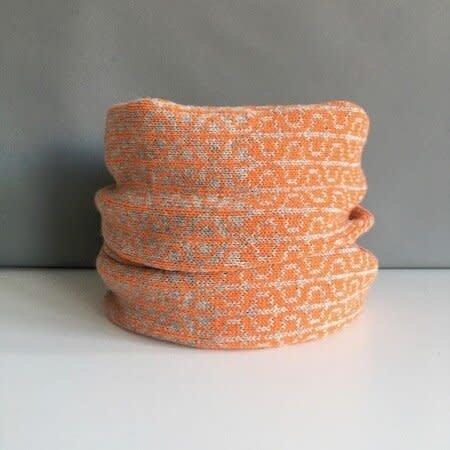 Olive Pearson Designs Merino Lamswol PHI Cowl Kurkuma & Grijs 006