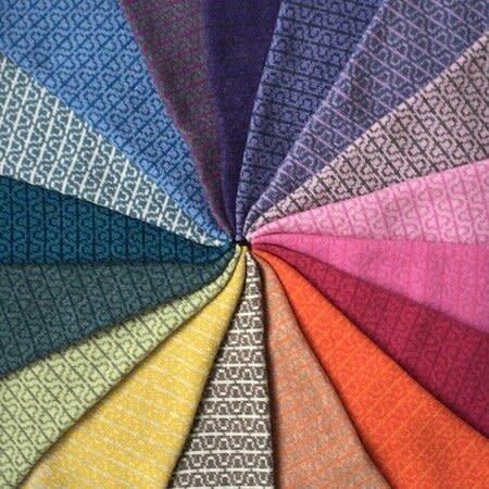 Olive Pearson Designs Merino Lambs Wool PHI Cowl Two Greens 007