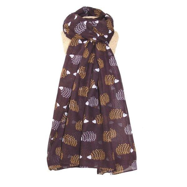 Egel lange sjaal Fig Brown 254
