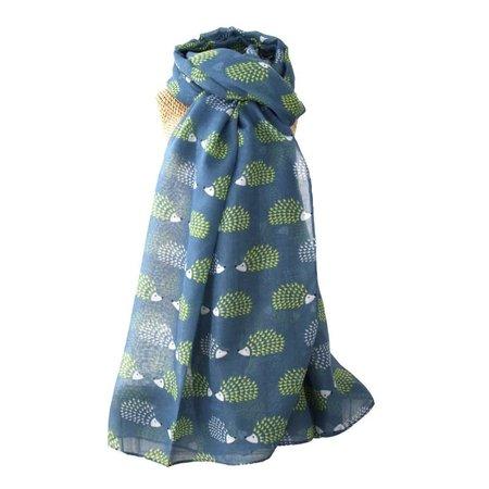 LUA Egel lange sjaal Blue256
