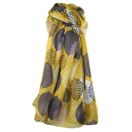LUA Bladeren lange sjaal oker 257