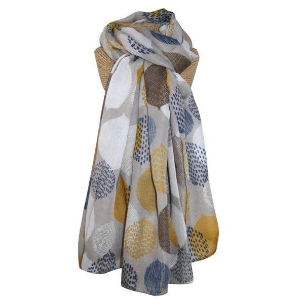Bladeren lange sjaal Grey 258