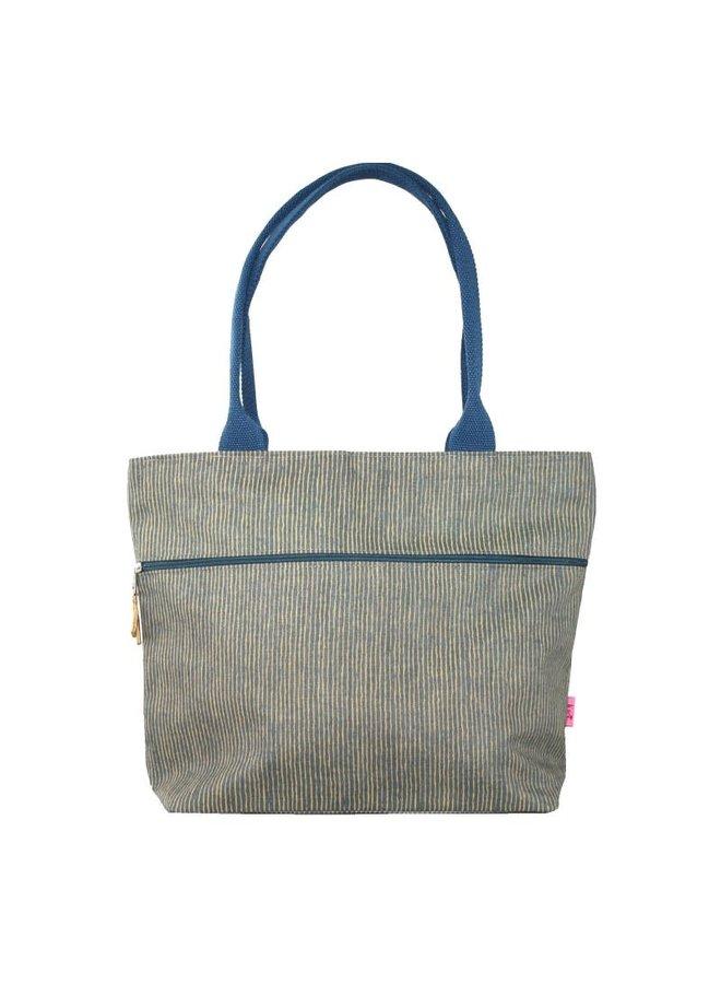 Tote Stripped Shoulder Bag Senf 451