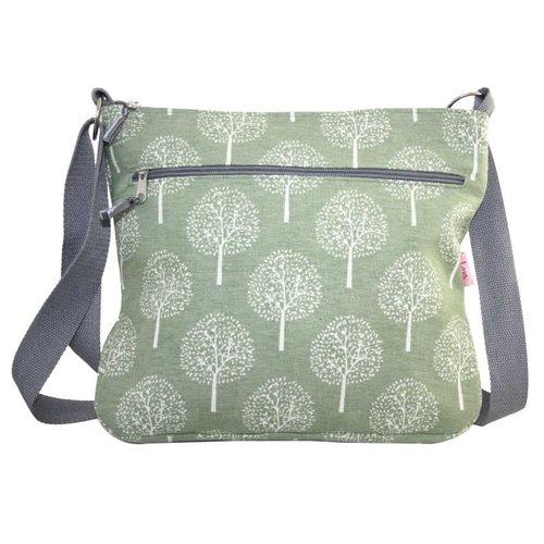 LUA Große Maulbeerbaum Messinger Tasche Olive 452