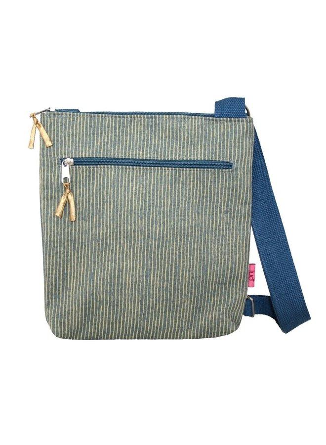 Cross Body Striped Messinger Bag Senf 453