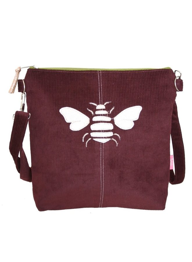 Golden Bee  Messinger Bag Fig Purple 456