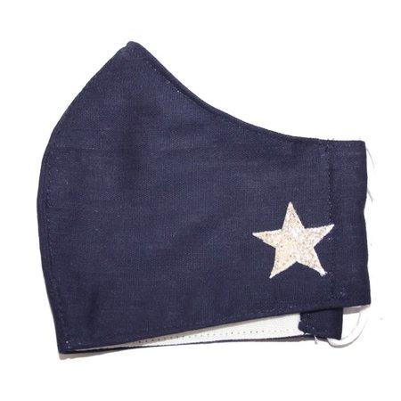 LUA Gezichtsmasker katoen donkerblauw met ster 297