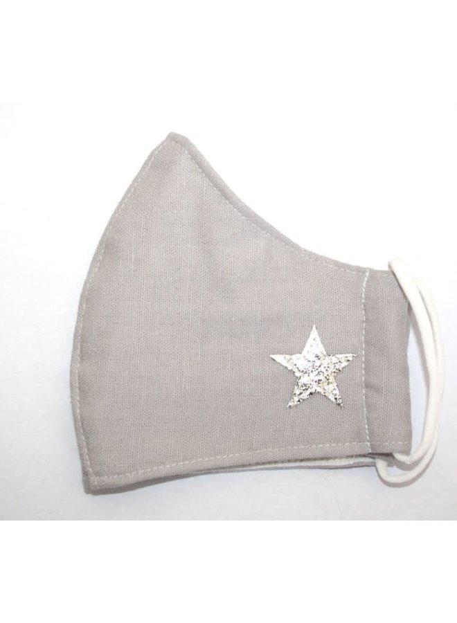 Gesichtsmaske Baumwolle Dunkelrot mit Stern 298