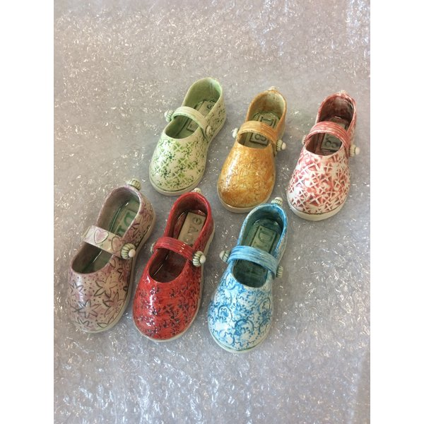 Schoen met riem Groen 11