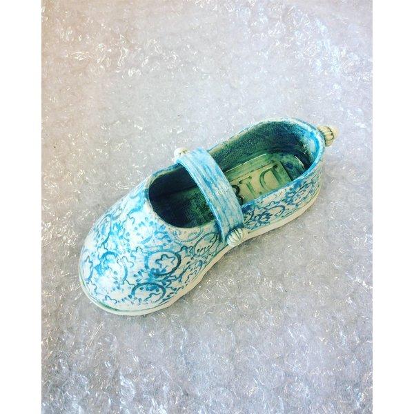 Schoen met riem Blauw 12