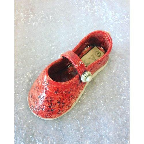 Drew Caines Chaussure avec sangle rouge 14