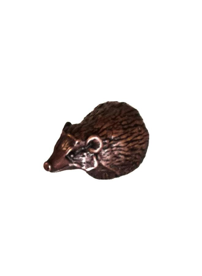 Hedgehog Sitting Bronze 78