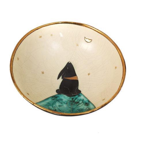Sophie Smith Ceramics Cuenco de oro y cerámica Moongazing on the Hill 021