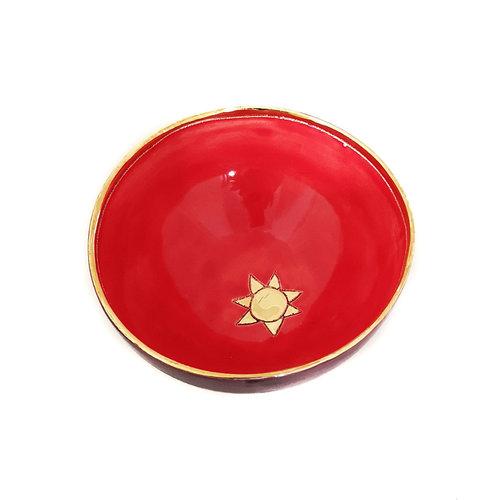 Sophie Smith Ceramics Bol pequeño de cerámica solar y oro 025