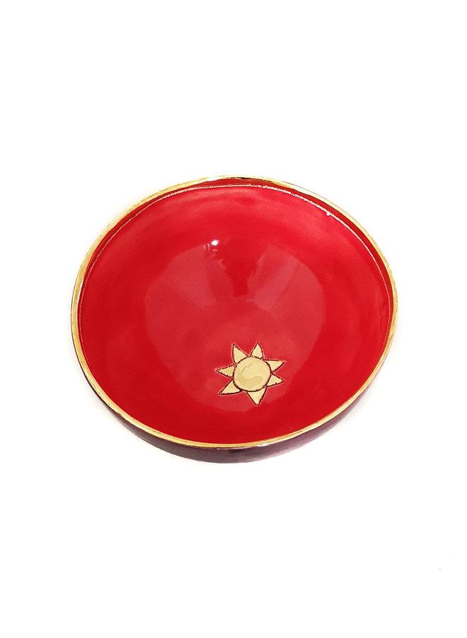 Sun Keramik und Gold kleine Schüssel 025