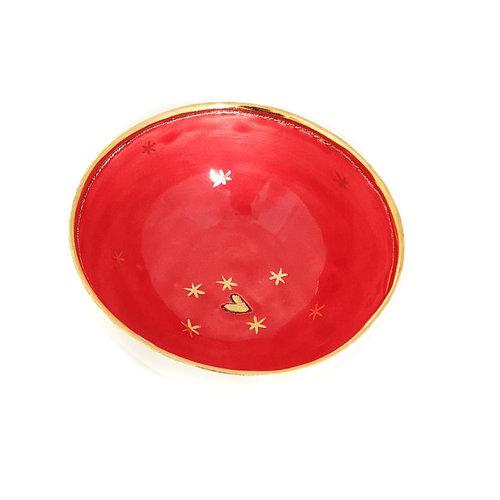 Sophie Smith Ceramics Bol pequeño Estrellas y Corazón de cerámica y oro 026