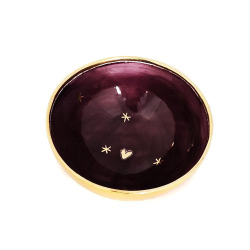 Sophie Smith Ceramics Bol pequeño corazón y estrellas oro 029