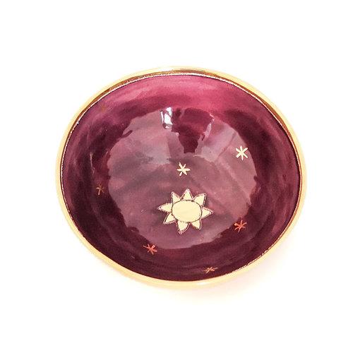 Sophie Smith Ceramics Bol pequeño sol y estrellas oro 030