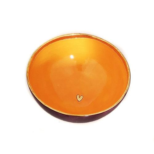 Sophie Smith Ceramics Bol pequeño corazón dorado 031