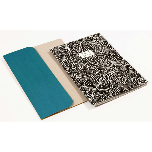 Wald Wave  Pattern A5 Notebook with folder  03