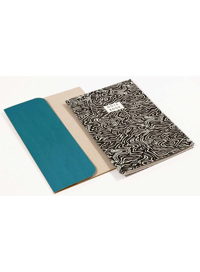 Wave Pattern A5 Notebook mit Ordner 03